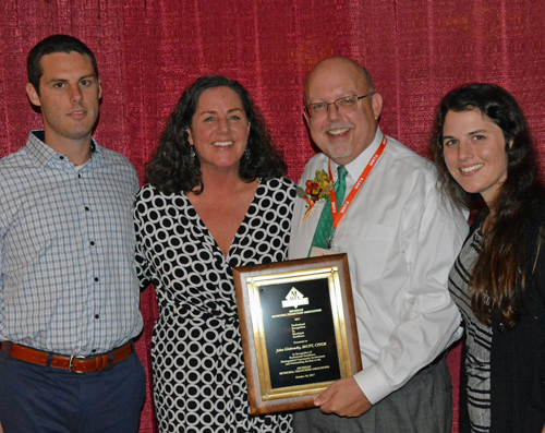 The Globensky family: son Andrew, wife Kate, Award Recipient John Globensky, and daughter Alaina.